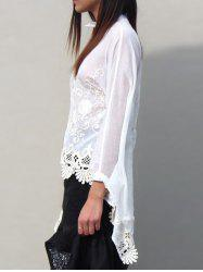 Asymmetric Embroidered Blouse