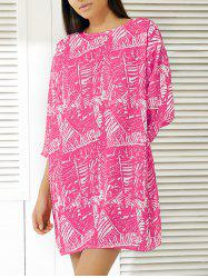 Fashionable Abstract Print Dress For Women