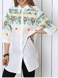 Stunning Applique Floral Shirt For Women