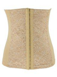 Trendy Lacework Spliced Tight Lacing Corset
