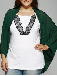Plus Size Dolman Sleeve Loose Cardigan -