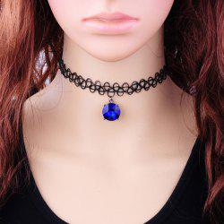 Vintage Faux Zircon Tattoo Choker Necklace