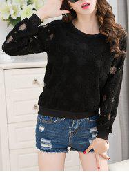 Crew Neck Lace Top