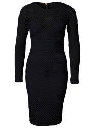Charming Pure Color Airtex Dress For Women -