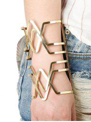 Hollow Out Cross V-Shaped Long Cuff Bracelet -