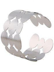 Cut Out Tiered Round Cuff Bracelet