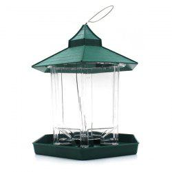 Hot Sale Prorable Lucency Hang Six Sides Pet Bird Feeder Supplies