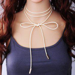 Bowknot Layered Wrap Choker Necklace