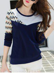 Wave Striped Color Block T-Shirt