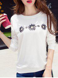 Daisy Print Drop Shoulder T-Shirt