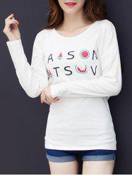 Letter Graphic Drop Shoulder T-Shirt -