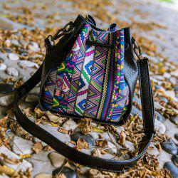 Casual Drawstring and Geometric Pattern Dessign Crosssbody Bag For Women -