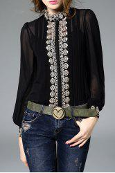 Fitting Embroidered Shirt With Cami Tank Top