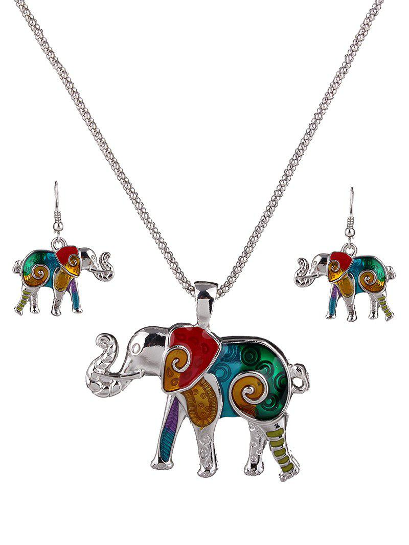Sets Elephant Necklace And Earrings
