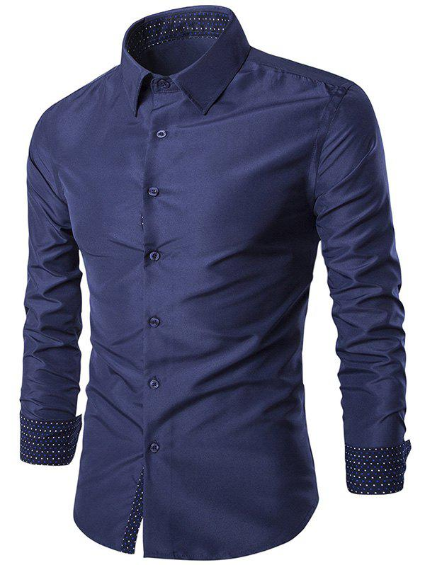 Outfit Turn-Down Collar Slim-Fit Long Sleeve Formal Shirt
