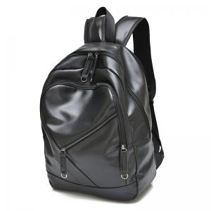 Stylish Solid Colour and Zippers Design Backpack For Men