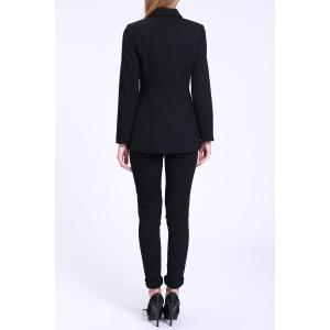 Fitted Blazer with Pockets - BLACK S