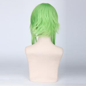 Green Ombre Yellow Straight Fluffy Straight Vocaloid Gumi Camillia Cosplay Wig -