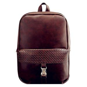 Trendy Solid Colour and Plaid Pattern Design Backpack For Men -
