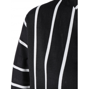 Brief Women's Striped Batwing Sleeves Shirt -