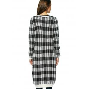 Vintage Long Sleeve Plaid Button Up Maxi Cardigan -