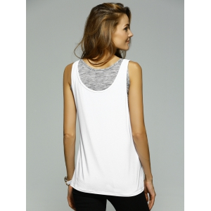 Casual Crop Top + White Tank Top Women's Twinset -