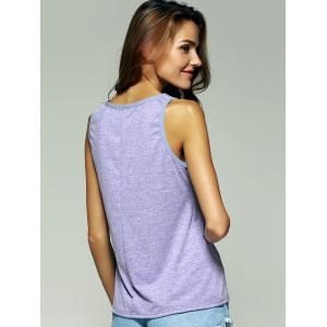 Chic Scoop Neck Splicing Women's Tank Top -