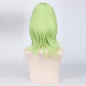 Shaggy Straight Layered Cyan Synthetic Vocaloid Gumi Bad End Night Cosplay Wig -