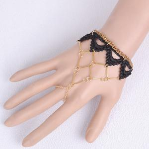 Retro Cut Out Weaving Lace Tiered Triangle Bracelet -