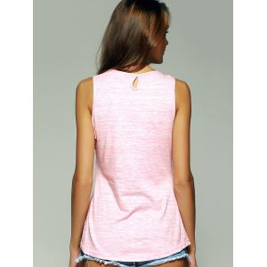 Trendy U Neck Keyhole Women's Tank Top -