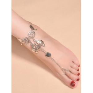 Vintage Water Drop Paillettes Anklet -
