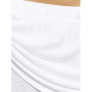 Ombre Bell Bottom Stretchy Pants - WHITE XL