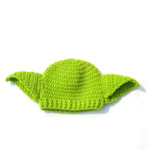 Handwork Crochet Photography Clothes Set For Baby - GREEN
