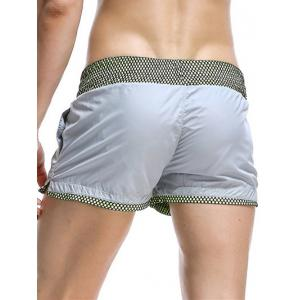 Casual Drawstring Waistband Loose Boxer Shorts -