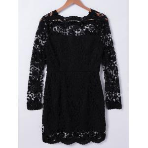 Rippled Edge Lace Dress -