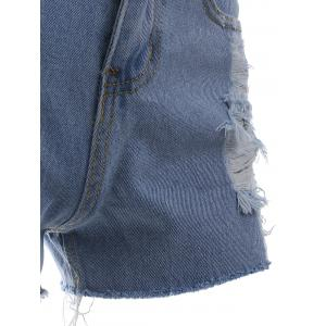 Chic Button Fly Ripped Shorts -