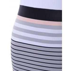 Seductive Sleeveless Striped Reversible Dress -