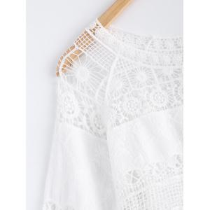 Crochet Lace Hollow Out Blouse -