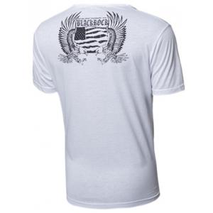 Round Neck Skull and Feather Print Short Sleeve T-Shirt For Men - WHITE XL