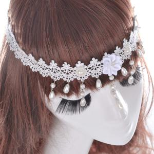 Gorgeous Faux Pearl Forehead Chain For Women -