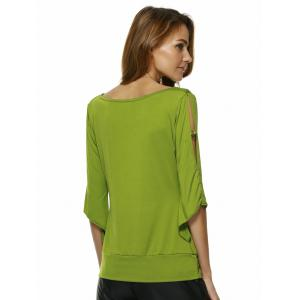 Charming Cowl Neck Solid Color Women's T-Shirt -