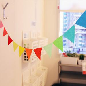 Stylish Home School Decor Colorful  Pennants Party Supplies -