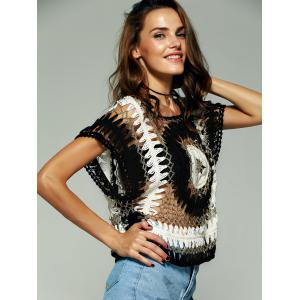 Chic Women's Crochet Batwing Sleeves Blouse -