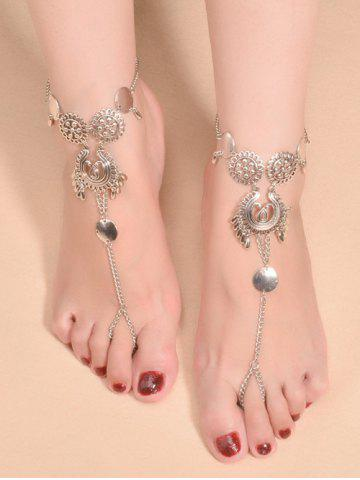 Vintage Water Drop Paillettes Anklet