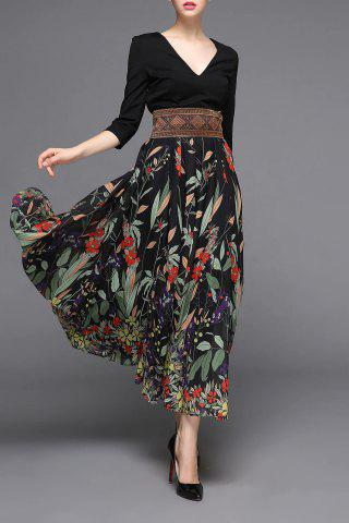 Ethnic Style High Waisted Dress