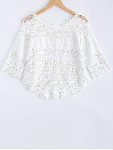 Outfit Crochet Lace Hollow Out Blouse