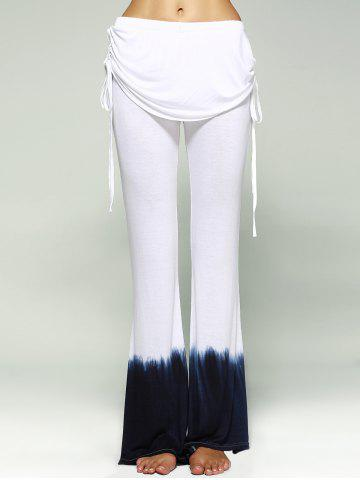 Store Ombre Bell Bottom Stretchy Pants WHITE XL