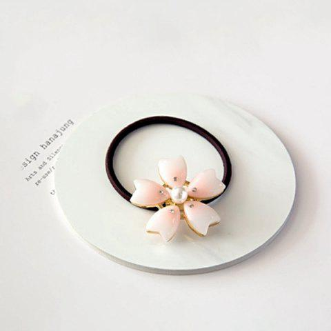 Affordable Stylish Faux Pearl Sakura Elastic Hair Band For Women - LIGHT PINK  Mobile