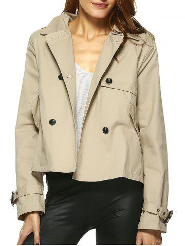 Outfit Vintage Double-Breasted Turn Down Collar Loose Trench Jacket