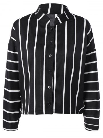 Shop Brief Women's Striped Batwing Sleeves Shirt